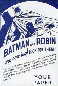 Batman Newspaper Ad